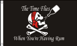 Pirate Time Flies When You're Having Rum Large Flag - 5' x 3'.